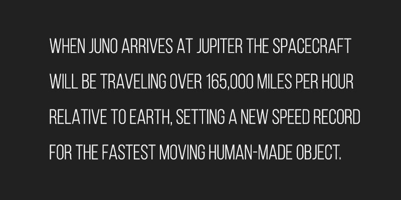 Juno will break the speed record for becoming the fastest human-made object in history